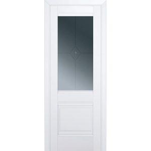 Межкомнатная белая остекленная дверь Профиль Дорс 2U Аляска