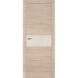 Дверь межкомнатная 4Z Капучино Кроскут кромка матовая с 4-х сторон или хром с 2-х сторон