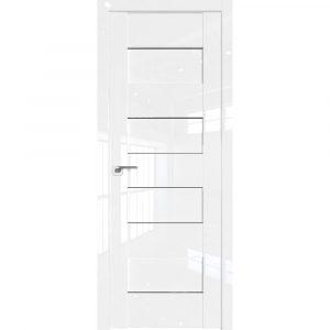 Белая глянцевая дверь ПРофиль Дорс 45L Белый Люкс
