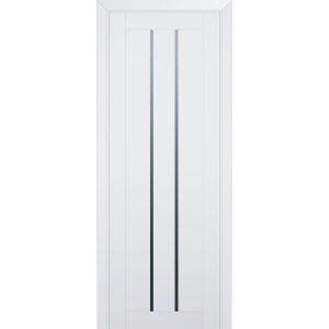 Белая межкомнатная дверь со стеклом 49U Аляска