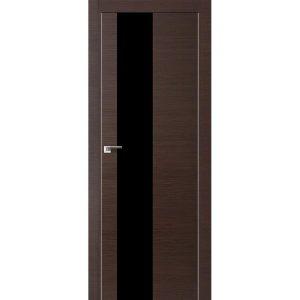 Дверь межкомнатная 5Z Венге Кроскут кромка матовая с 4-х сторон или хром с 2-х сторон