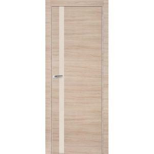 Дверь межкомнатная 6Z Капучино Кроскут кромка матовая с 4-х сторон или хром с 2-х сторон