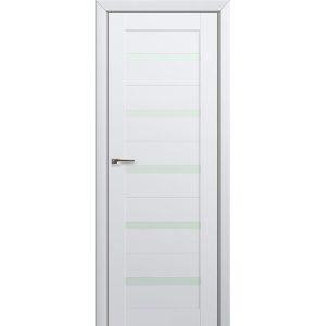 Межкомнатная остекленная белая дверь Профиль Дорс 7U Аляска
