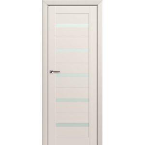 Светлая межкомнатная дверь со стеклом Профиль Дорс 7U Магнолия Сатинат