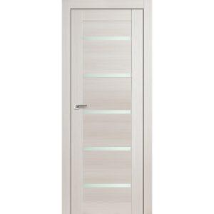 Светлая межкомнатная дверь со стеклом Профиль Дорс 7Х Эш Вайт Мелинга