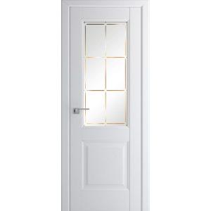 Белая межкомнатная дверь со стеклом Профиль Дорс 90U Аляска