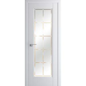 Белые матовые межкомнатные двери со стеклом Профиль Дорс 92U Аляска