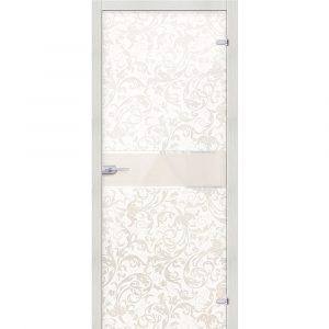 Стеклянная дверь Флори Белый