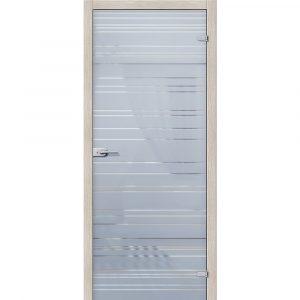 Стеклянная дверь Грация Белое Сатинато
