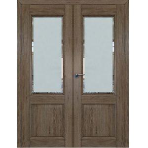 Двустворчатая распашная дверь 2.42XN Салинас Темный