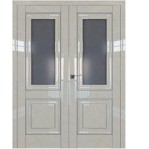 Двойная двустворчатая дверь 28L Галька Люкс