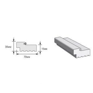 Коробка LVL 2070x70x30 с уплотнителем шпон файн-лайн