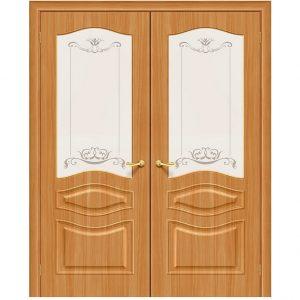 Двойная двустворчатая дверь Модена П-18 (МиланОрех)