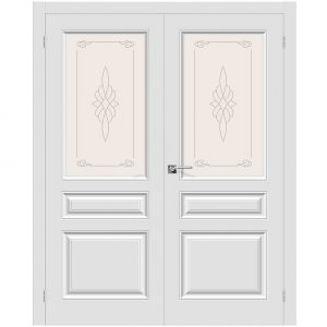 Двойная дверь Скинни-15 П-23 (Белый)