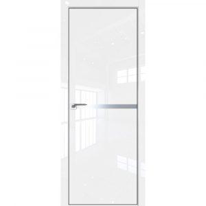Белая глянцевая межкомнатная дверь Профиль дорс 11LK Белый Люкс