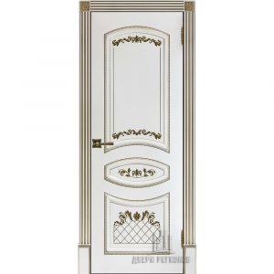 Дверь межкомнатная Алина 2 Эмаль Белая