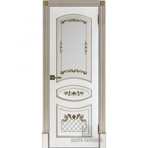Дверь межкомнатная Алина 2 Эмаль Белая остекленная