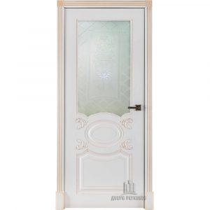 Дверь межкомнатная Аристократ Эмаль Белая остекленная