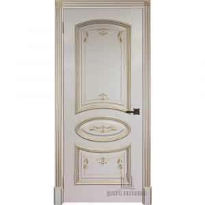 Дверь межкомнатная Багет 3 Эмаль Слоновая кость