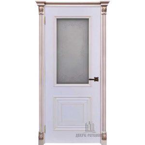 Дверь межкомнатная Итало Багет 30 Эмаль Белая остекленная