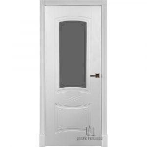 Дверь межкомнатная Мариана Эмаль Белая остекленная
