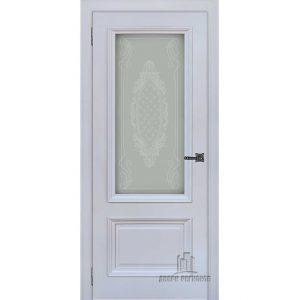 Дверь межкомнатная Неаполь 1 Серый шелк (Ral 7047) остекленная
