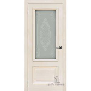 Дверь межкомнатная Неаполь 1 Слоновая кость (Ral 9001) Остекленная