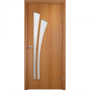Дверь межкомнатная Тип С-07 Миланский Орех Остекленная