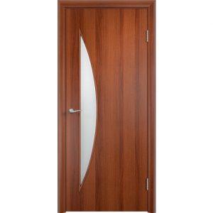 Дверь межкомнатная Тип С-06 Итальянский Орех Остекленная