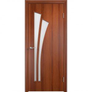 Дверь межкомнатная Тип С-07 Итальянский Орех Остекленная