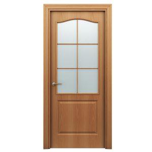Дверь межкомнатная Премиум Классик Миланский Орех со стеклом