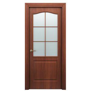 Дверь межкомнатная Премиум Классик Итальянский Орех со стеклом