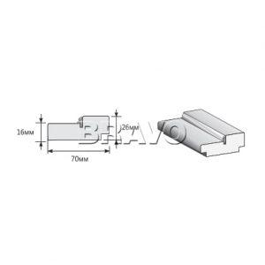 Коробка 3D-Graf 2070x70x26 с уплотнителем