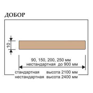 Коробка дверная 75x40x2070 PV Классика