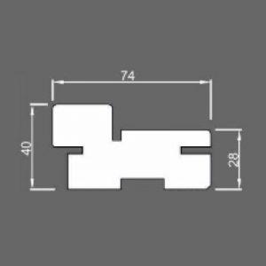 Коробка дверная телескопическая 40x75x2080, массив сосна/ольха шпон ОЛЬХА