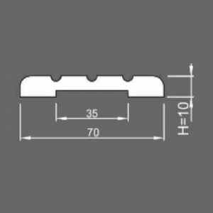 Наличник канелюр 10x70x2150 массив ольхи