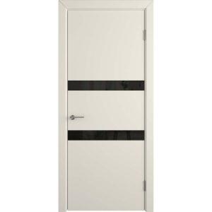 Дверь межкомнатная Niuta Ivory Black Gloss