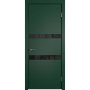 Дверь межкомнатная Niuta Rainy Moss Black Gloss